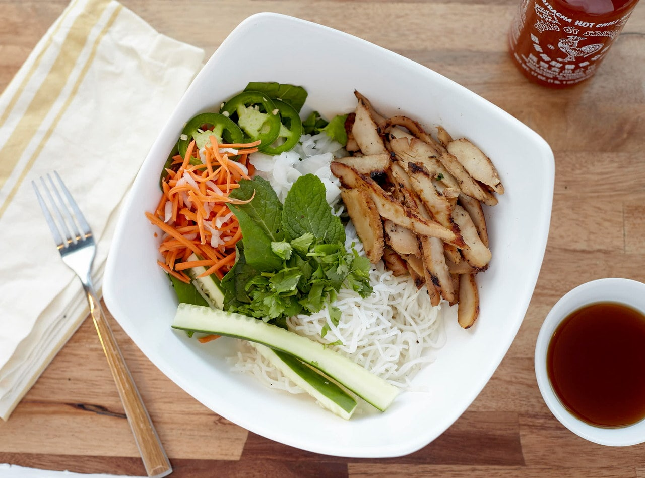 GF Chicken Vermicelli Boxed Lunch by Chef John Tran