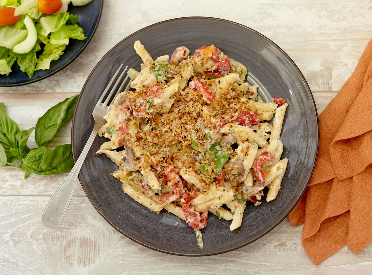"Vegan Antipasto Mac n ""Cheese"" by Chef Jenn Strange"