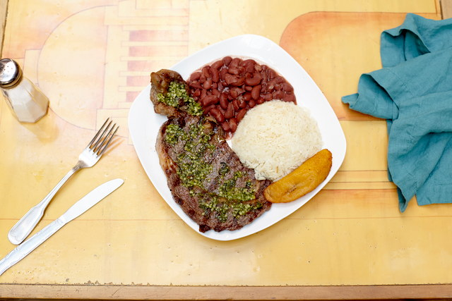 Parrilla Sirloin Steak Plate by Chef Daniel Rosero