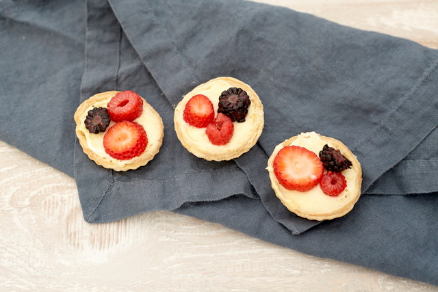 Mini Berry Custard Tarts by Chef Aly Anderson