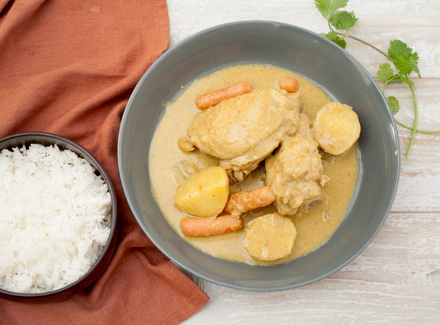 Thai-style Yellow Curry with Chicken by Chef Tanya Jirapol
