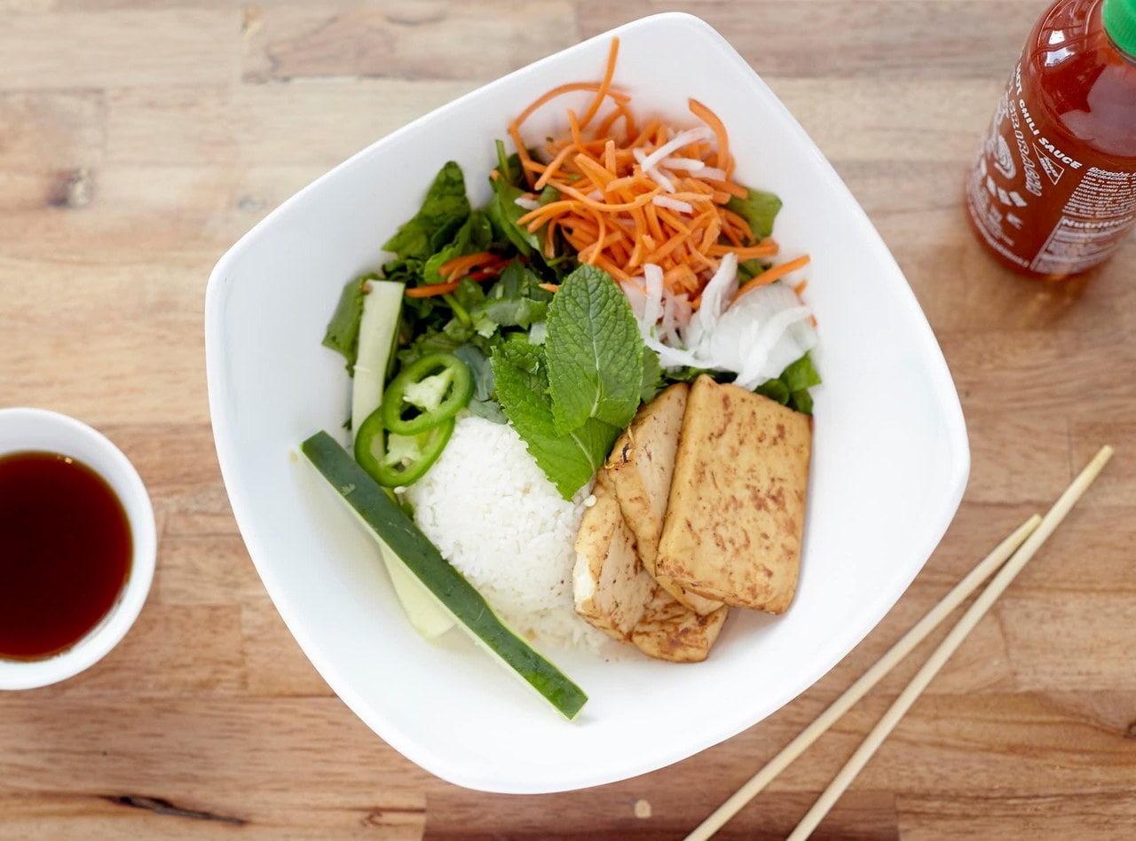 Tofu Rice Bowl by Chef John Tran