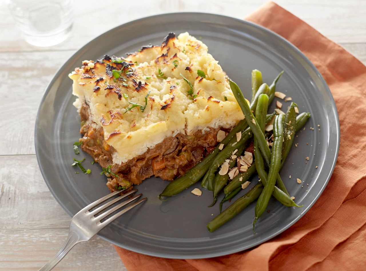 Beef Shepherd's Pie with Green Beans by Chef Jenn Strange