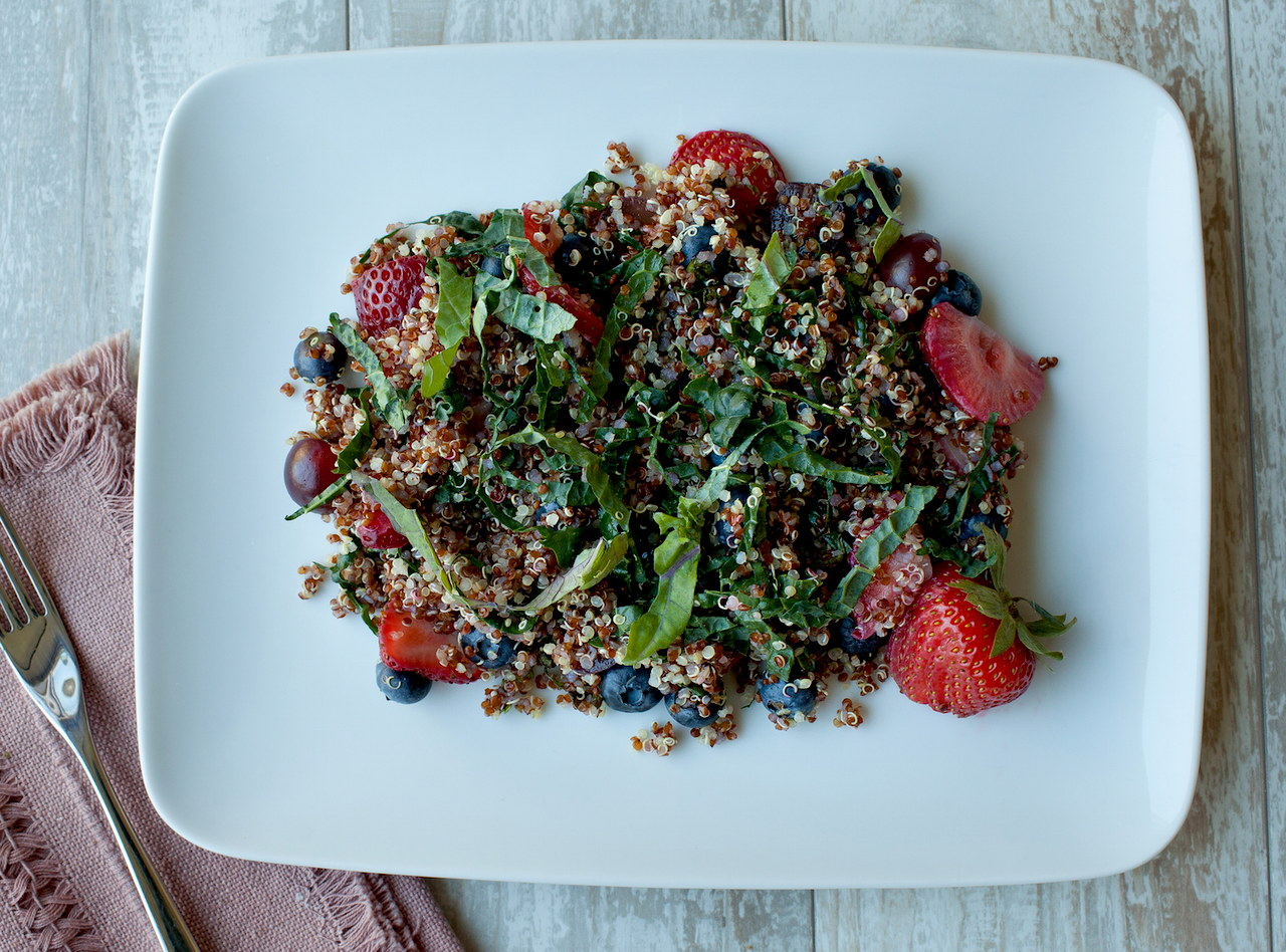 Summer Fruit & Quinoa Salad by Chef Michelle Walker