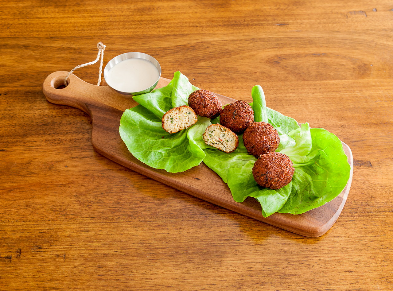 Anaheim Pepper & Cilantro Falafel by Chef Andrea Ryan