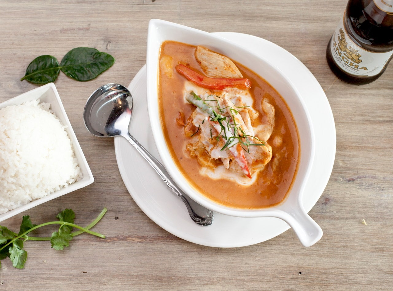 Panang Curry Chicken Boxed Lunch by Chef Pik Kookarinrat