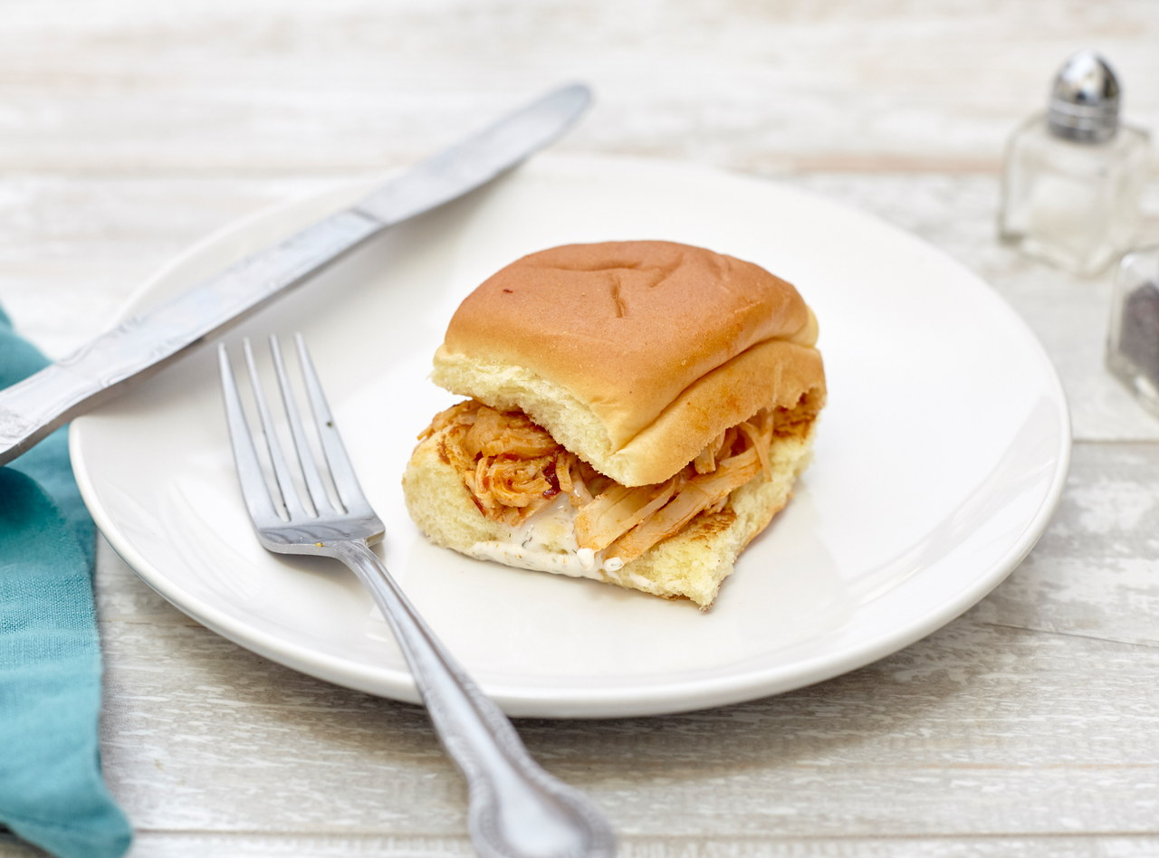 BBQ Chicken Sliders with Buttermilk Ranch by Chef Annie Koski-Karell