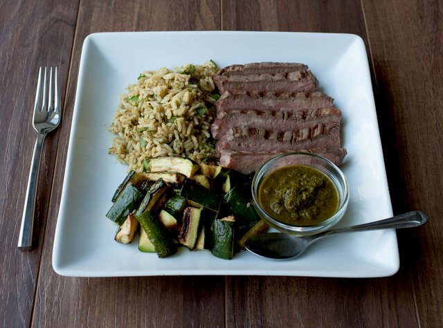 Flank Steak with Chimichurri Sauce by Chef Katie Peterson