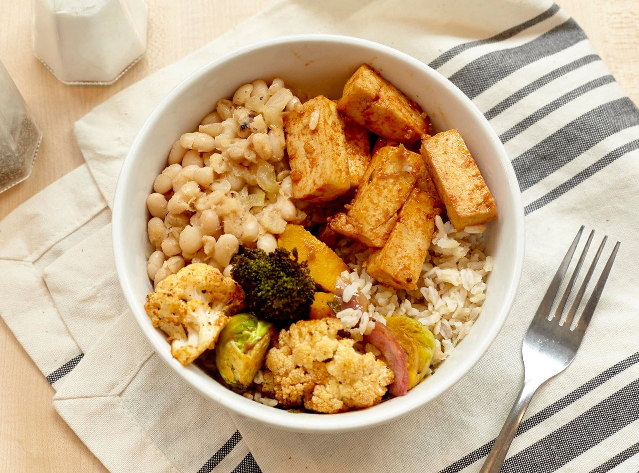 Vegan Carolina Bowl with Tofu by Chef Annie Koski-Karell