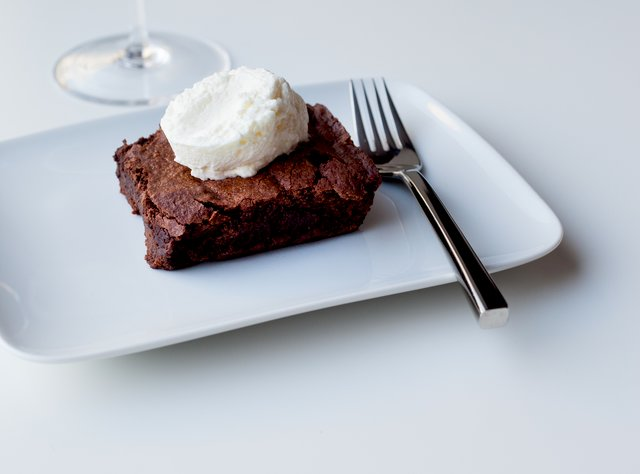 Brownie with Mint Whip Cream by Chef Larry Milner