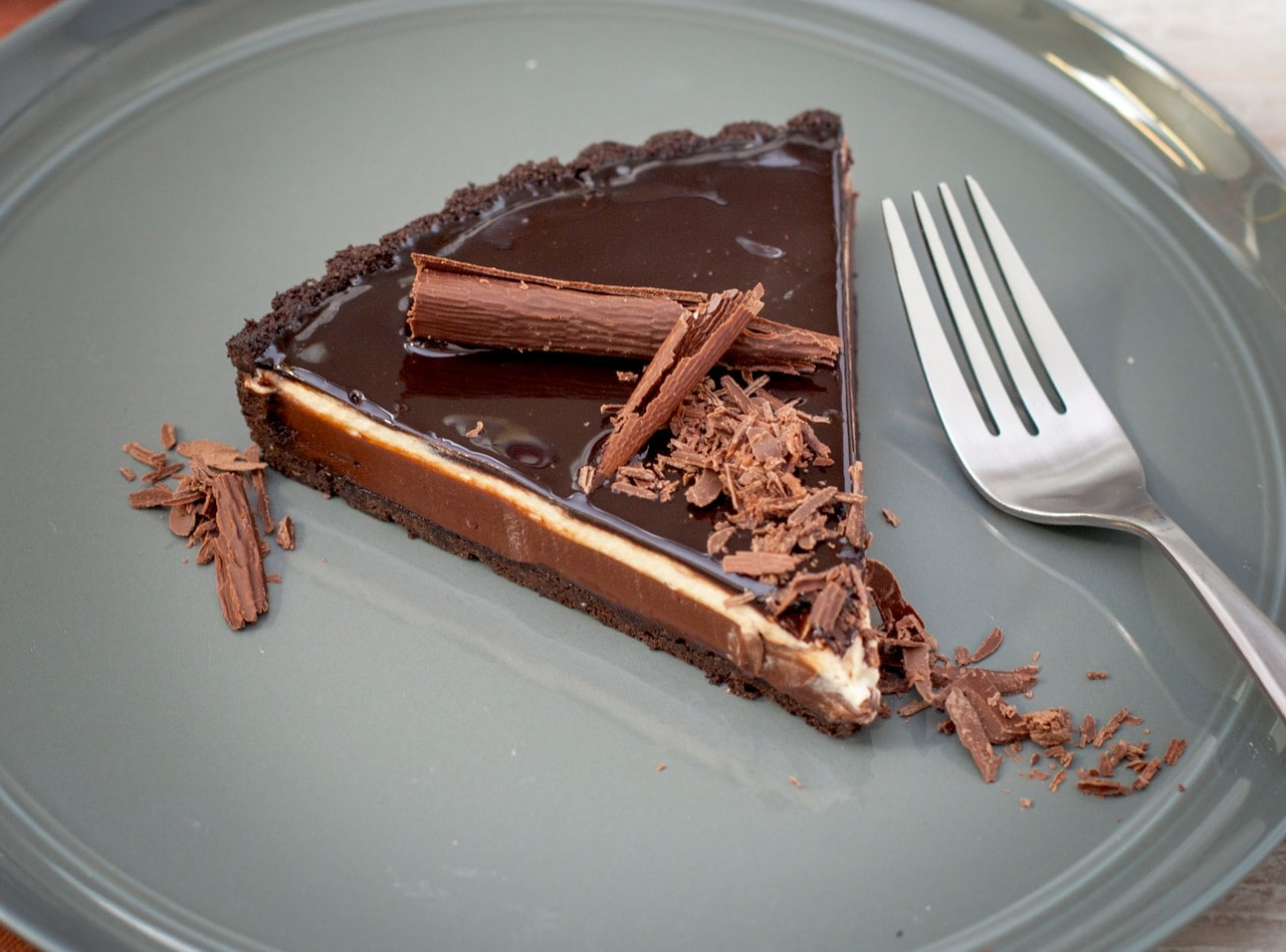 Chocolate Irish Cream Tart by Chef Jasmin Bell