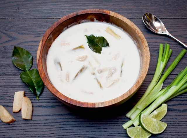 Thai Coconut Chicken Soup by Chef Steve Shafer