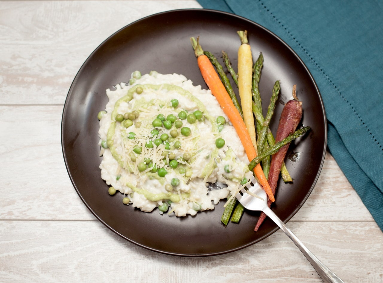 English Pea Risotto by Chef Jasmin Bell
