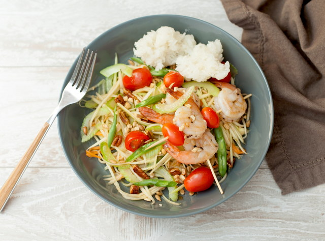Green Papaya Salad with Chicken by Chef Tanya Jirapol
