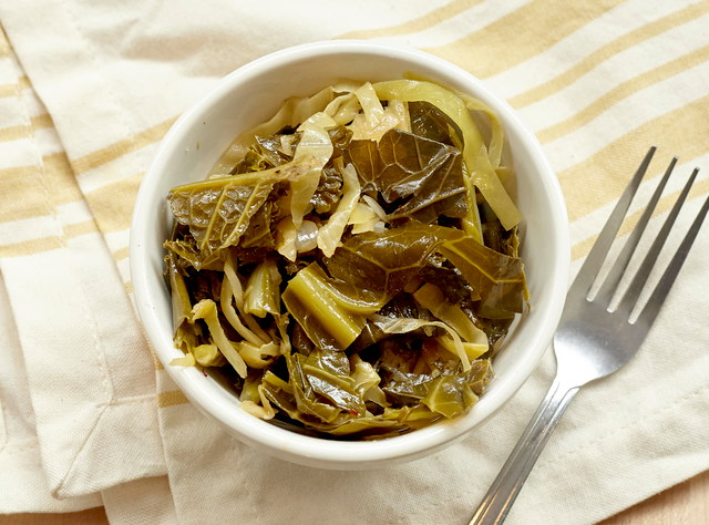 Z'Herbes Braised Greens by Chef Annie Koski-Karell