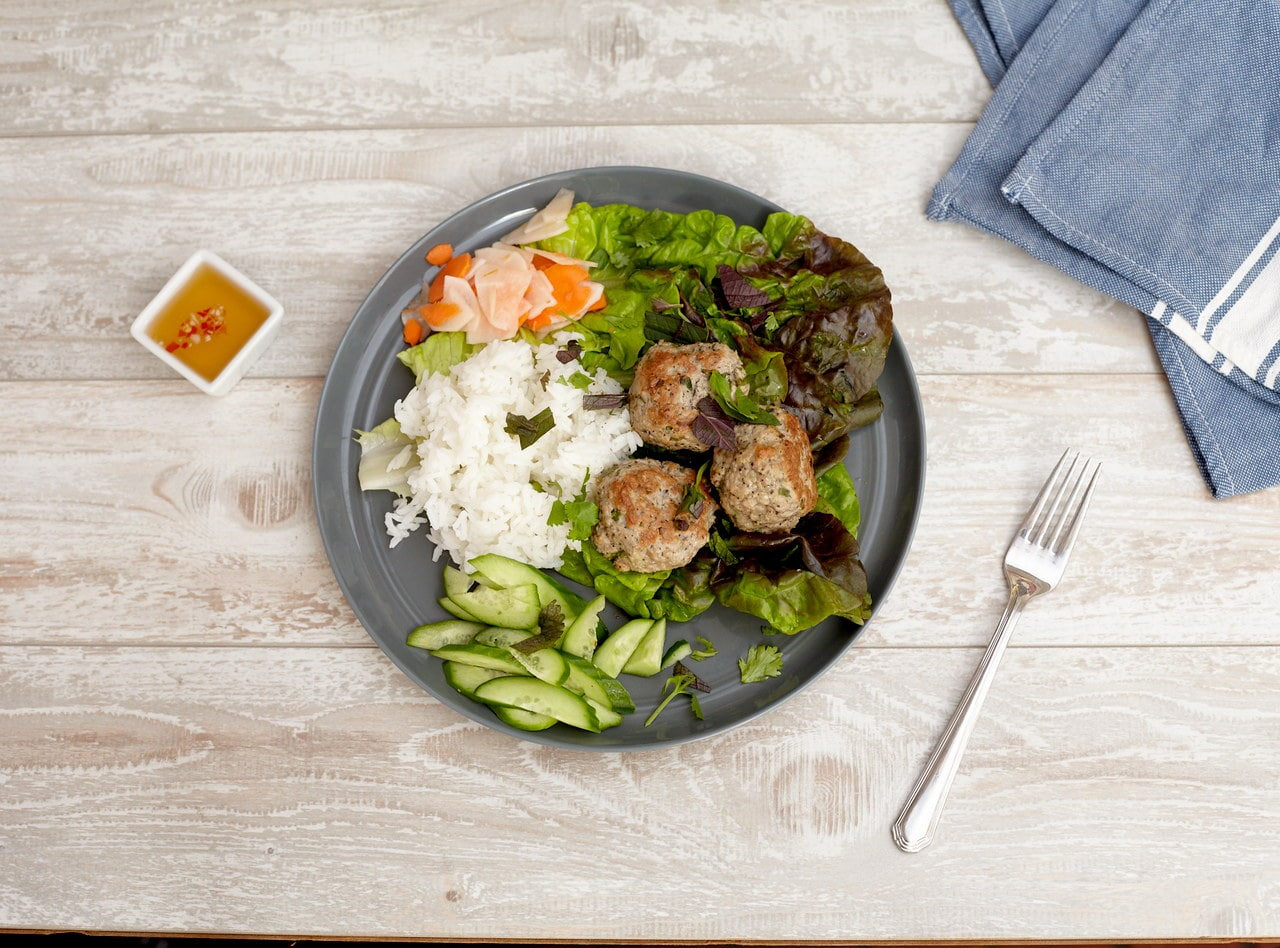 Lemongrass Pork Meatballs by Lish Chef