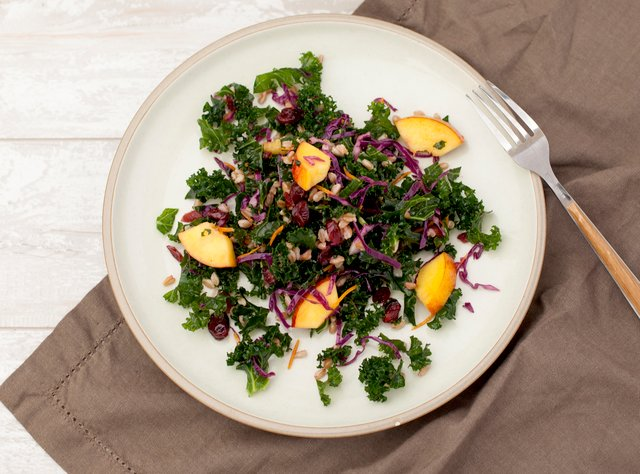 Kale and Nectarine Salad by Chef Jeriel Calamayan