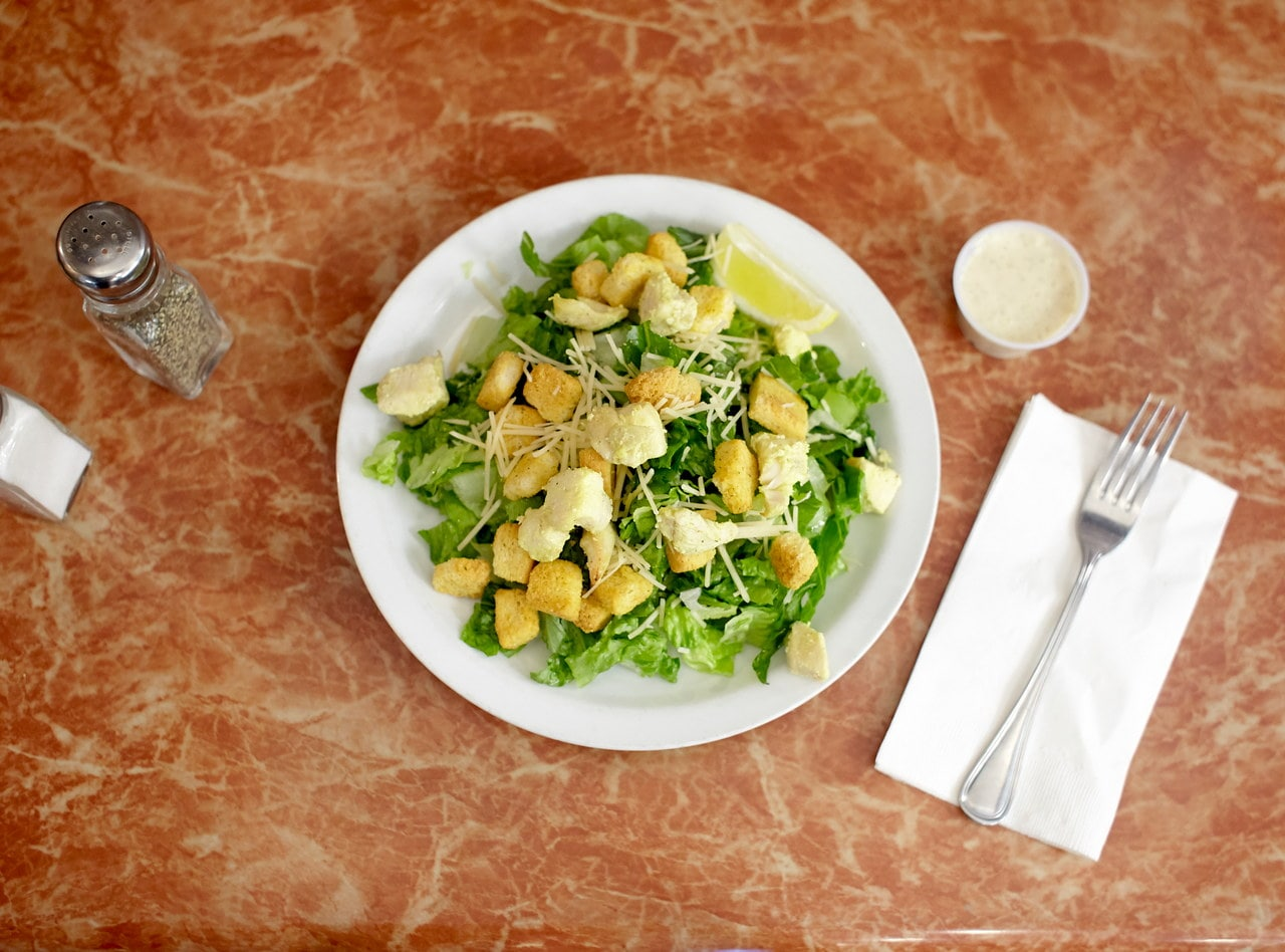 Caesar Salad with Chicken by Chef Amir Razzaghi