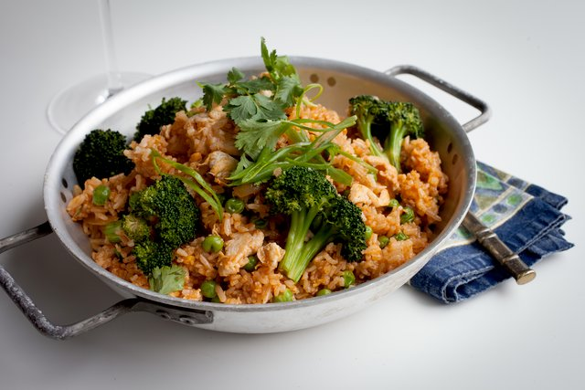 Sriracha Fried Rice with Chicken by Chef Max Borthwick