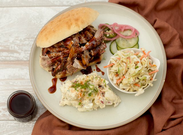 BBQ Pulled Pork Sandwich by Chef Eric Mendel