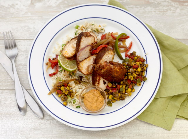 Blackened Chicken with Creole Peppers by Chef Jenn Strange