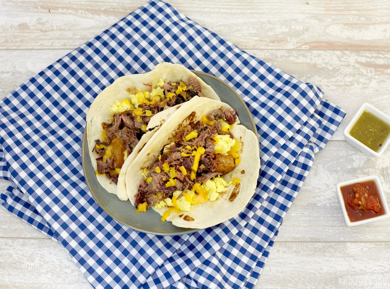Jack's Breakfast Taco with Brisket by Chef Jack Timmons