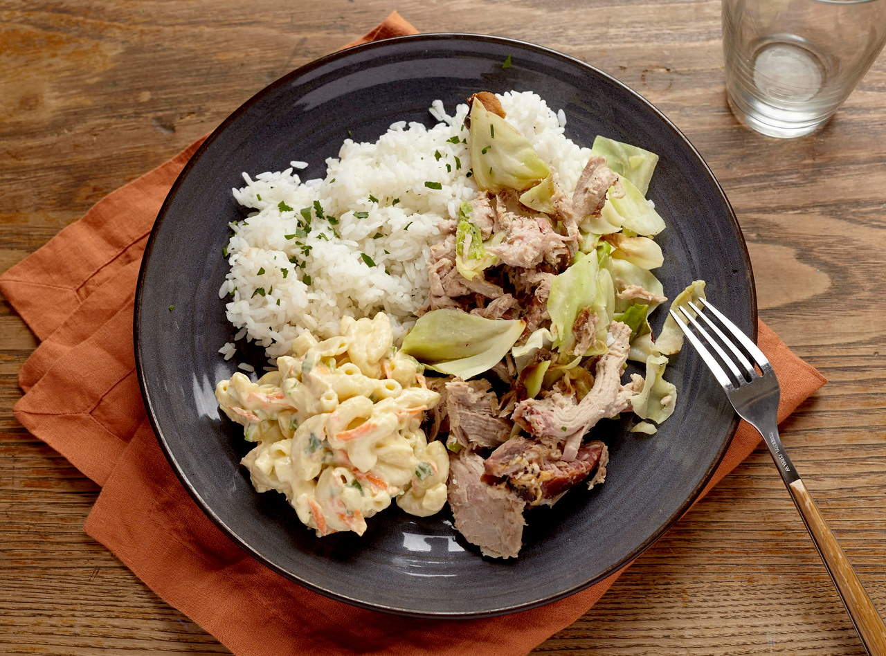 Hawaiian Kalua Chicken Plate by Chef Jenn Strange
