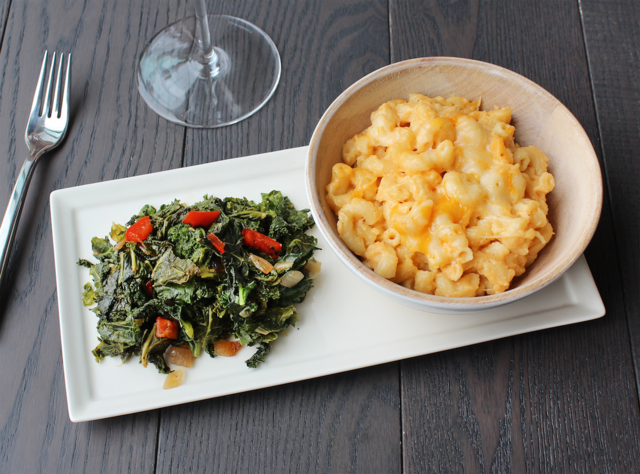Macaroni and Cheese with Braised Kale by Chef Katie Cox