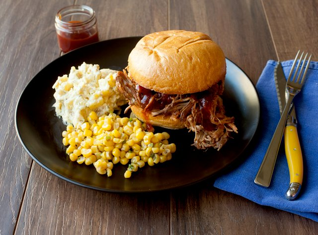 BBQ Pulled Chicken Sandwich by Chef Katie Cox