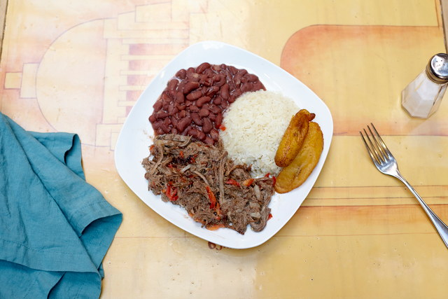 Vaca Frita Shredded Beef Plate by Chef Daniel Rosero
