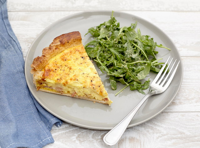 Salmon Quiche with Mixed Greens Salad (Serves 4) by Chef Christophe