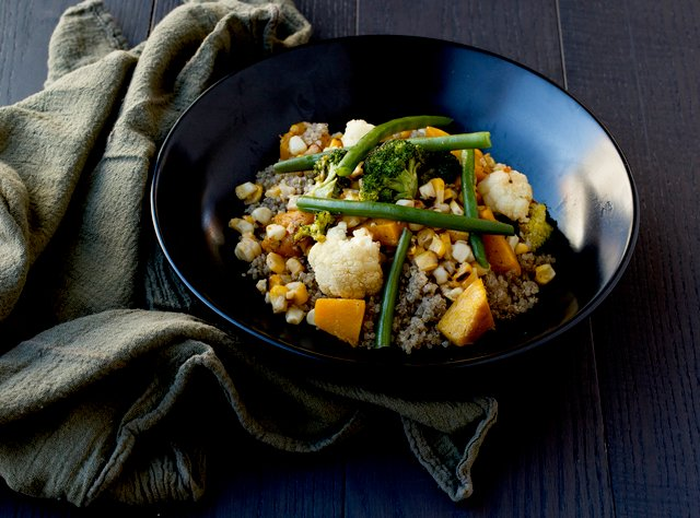 Quinoa Bowl with Roasted Vegetables by Chef Amanda Sue