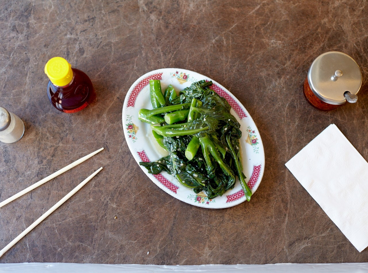 Chinese Broccoli with Garlic Sauce by Chef Han Ma