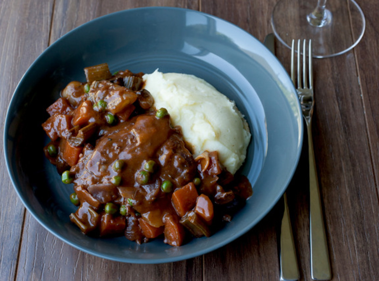Portobellas au Vin with Mashed Potatoes by Chef Guru Sigdel